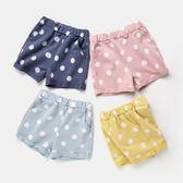 女童短褲夏裝 兒童韓版女寶寶圓點褲子 夏季可愛童裝百搭外穿熱褲梗豆物語