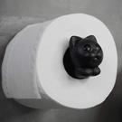 QUALY|羅密喵捲筒衛生紙架(黑)