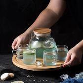 茶壺加厚玻璃茶壺日式透明花茶壺家用花草茶具套裝下午茶具加熱器含托 免運直出 交換禮物