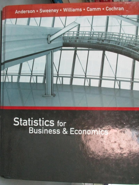 【書寶二手書T3/原文書_HMU】Statistics for Business & Economics_And