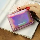 短夾女士鐳射錢包女短款韓版學生可愛小清新多功能折疊零錢包