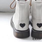 短靴秋冬真皮加絨英倫復古文藝平底粗跟馬丁靴女【毒家貨源】