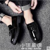 韓版休閒小皮鞋社會小伙豆豆鞋百搭一腳蹬懶人男鞋子潮鞋『小淇嚴選』