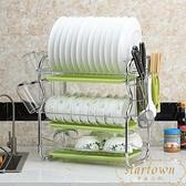 廚房碗架瀝水架家用置物架多功能晾碗碟架碗筷收納盒【繁星小鎮】