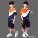 童裝男童夏裝套裝2020新款中大童小男孩夏季帥氣韓版洋氣短袖潮衣 蘿莉新品