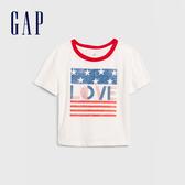 Gap 女童 Gap x Disney迪士尼系列圓領短袖T恤 577852-光感亮白