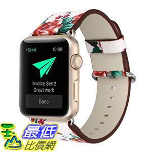 [107美國直購] 錶帶 MORTREE Soft Leather Band for Apple Watch Series 3 Bands 38mm