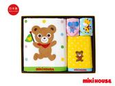 MIKI HOUSE 日本製 可愛小熊動物毛巾禮盒