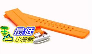[美國直購 ShopUSA] ORANGE 24mm Double Tang Modena Italian Rubber Dive Watch Band for Luminox, etc. $914