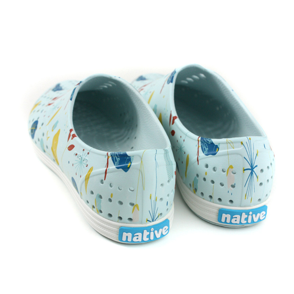 native JERICHO PRINT 洞洞鞋 休閒鞋 淺藍色 鳥語花香 女鞋 11300401-8764 no887