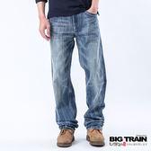BIG TRAIN 日式亮片繡垮褲-男-淺藍