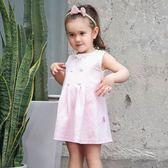 女嬰兒裙子寶寶公主連身裙兒童復古風背心裙 森活雜貨