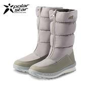 PolarStar 女 防潑水保暖雪鞋│雪靴『冰灰』P16662.(內厚鋪毛) 防滑鞋底.雪地靴.滑雪.雪地必備
