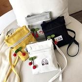 斜跨手機包 2021新款夏小包包女迷你斜挎手機包ins帆布包學生可愛百搭零錢包 小衣裡