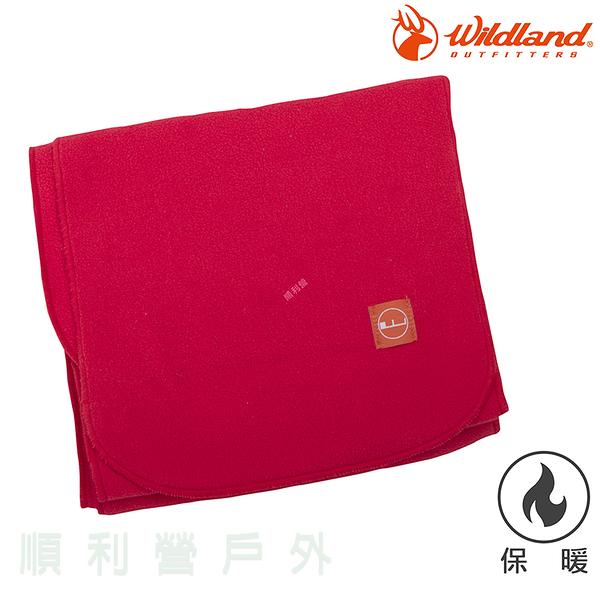 荒野WILDLAND 輕柔PILE保暖圍巾 W2010 嫣紅色 刷毛圍巾 不易產生靜電 OUTDOOR NICE