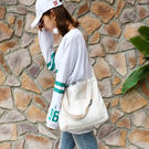 【TT】手提包 帆布包 土星印花大容量斜背包 帆布袋 側背包 手提袋
