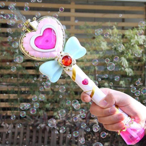 現貨出清 泡泡機 電動泡泡機兒童全自動泡泡槍吹泡泡棒玩具不漏水魔法棒IGO 10-18