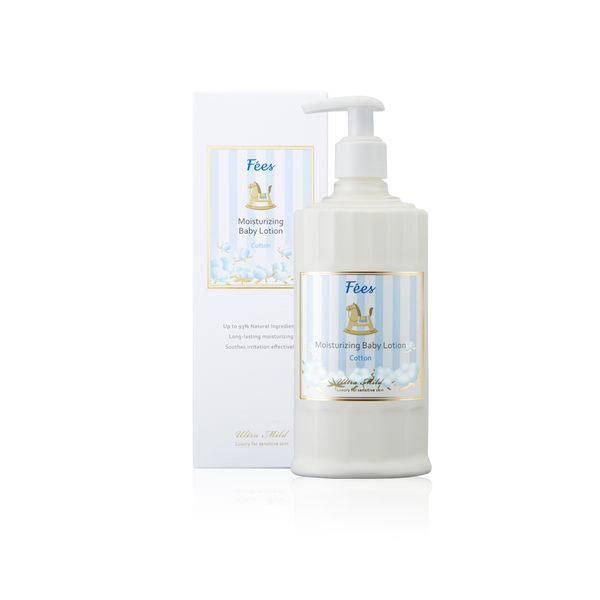 【Fees法緻】嬰兒滋潤保濕乳液--棉花 300ml (親膚 寶寶身體乳 彌月禮 天然 低敏 滿月禮 送禮)