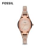 FOSSIL GEORGIA 浪漫復古皮革女錶-駝色 26mm