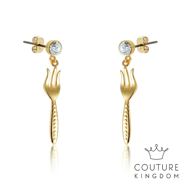 Couture Kingdom 迪士尼小美人魚 叉子髮梳水晶耳環 Mermaid Dinglehopper Earrings