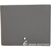 Mont Blanc 萬寶龍 Extreme 風尚系列微碳織紋八卡對折短夾(灰色) 1840708-06