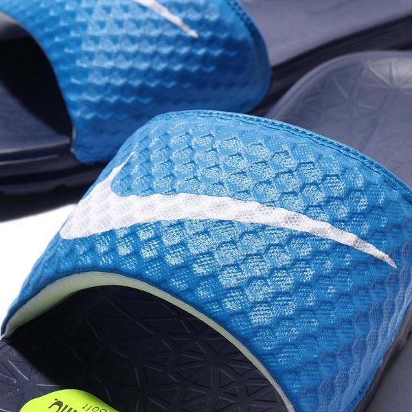 Nike 拖鞋 Benassi Solarsoft 藍 白勾 輕量 超好穿 基本款 男鞋【PUMP306】 705474-402