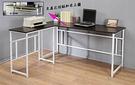 160穩固防潑水L型工作桌(長桌+側桌)...