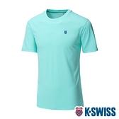 K-SWISS Back KS Logo Tee涼感排汗T恤-男-薄荷綠