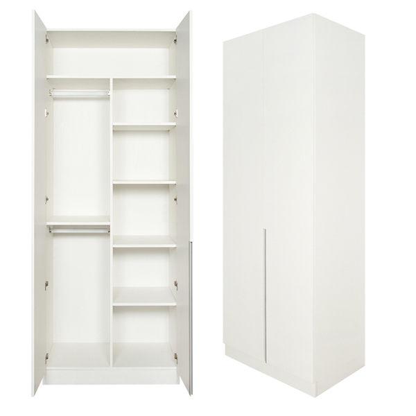 【Arkhouse】伯利恆系列-臥房雙衣桿六格3尺開門衣櫃 W90*H234*D58