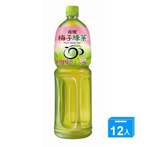 古道梅子綠茶1500ml*12【愛買】