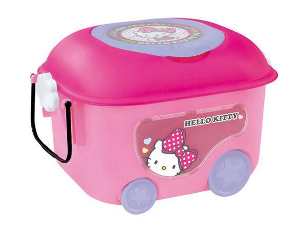 日本 迪士尼 Disney 凱蒂貓 Hello Kitty玩具收納車(附透視窗)