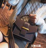 包包女2019新款潮韩版百搭斜背包chic港风手提包时尚磨砂小方包『艾麗花園』