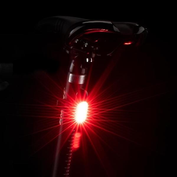 自行車尾燈夜騎行山地公路車安全警示燈USB充電配件裝備