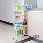 夾縫收納架 夾縫置物架客廳衛生間可行動縫隙收納架儲物架帶輪浴室置物架T