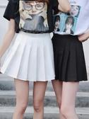 2020新款春夏百摺裙大碼短裙女高腰A字裙學生防走光格子半身裙 韓國時尚週