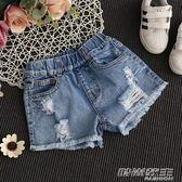 女童牛仔短褲破洞夏季5女孩6時尚8童裝9中大童10韓版12歲薄款熱褲       時尚教主