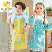繪畫罩衣背心式美術用兒童圍裙夏季無袖防水透氣薄款喂飯吃飯手工  居家物語