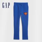 Gap男童 Gap x DC正義聯盟系列印花鬆緊休閒褲 594833-明亮藍
