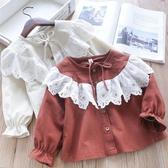 女童襯衫長袖T恤寶寶兒童休閑上衣襯衫【奇趣小屋】