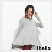 現貨4折出清不退不換,慎選-春新款百搭T恤簡約大圓襬長袖上衣  ibella【72-11-022】