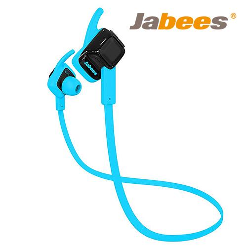 Jabees Beating 藍牙4.1 運動防水 耳塞式耳機 藍色