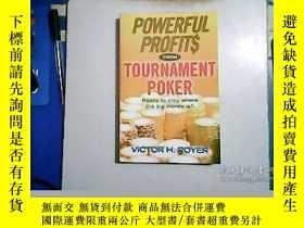 二手書博民逛書店P0OWERFUL罕見PROFITS FROM TOURNAME