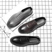 尖頭皮鞋 休閒鞋 時尚簡約厚底鞋【五巷六號】x339