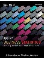 二手書博民逛書店《Applied Business Statistics: Ma