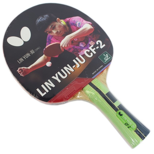 Butterfly 蝴蝶牌 林昀儒CF-2 桌球拍 碳纖貼皮負手板 /一支入(特1490) 兵乓拍 兵乓球拍 -生TT1724