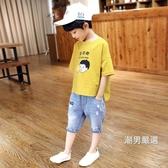 短袖T恤2018新品夏裝男童短袖t恤兒童棉質體恤夏季正韓潮大童童裝