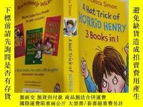 二手書博民逛書店a罕見hat trick of horrid henry 3 book in 1 一個帽子戲法可怕的亨利3書在1.