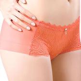思薇爾-撩波系列M-XL蕾絲中低腰平口內褲(蜜誘橘)