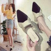 拖鞋女夏外穿2018新款韓版百搭尖頭包頭半拖低跟粗跟半托防滑涼拖 時尚潮流