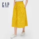 Gap 女裝 甜美花卉刺繡半身裙 542527-芥菜色